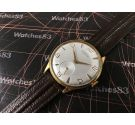 Vintage swiss watch Dogma Prima manual winding Oversize Plaqué OR