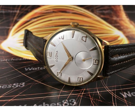 Vintage swiss watch Dogma Prima manual winding Oversize Plaqué OR
