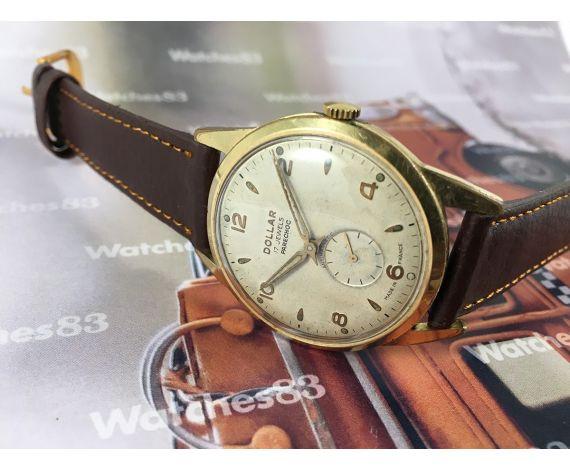 Reloj antiguo de cuerda DOLLAR bañado en oro 17 jewels OVERSIZE