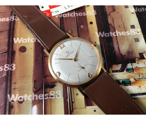 Certina Vintage swiss hand winding watch New old stock 60s Plaqué OR *** NOS ***