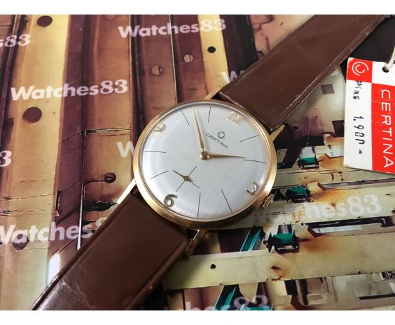 Reloj Certina de cuerda manual nuevo de antiguo stock 60s Plaqué OR *** N.O.S. ***