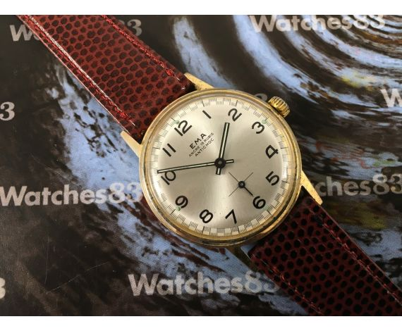 Vintage watch manual winding Ema 15 Rubis