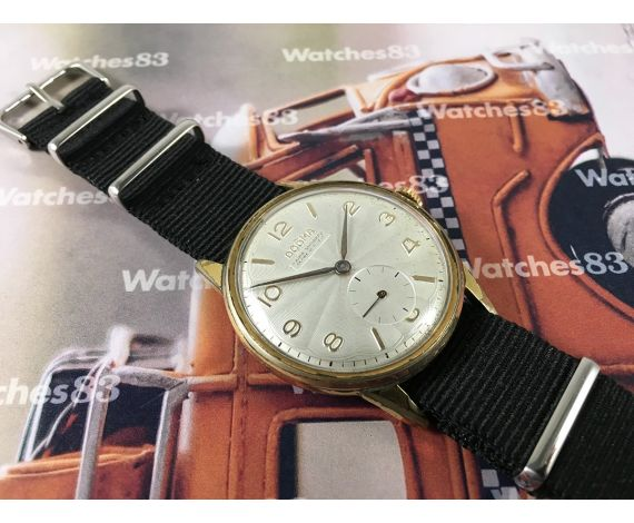 Dogma Prima Vintage swiss watch manual winding Plaqué OR Oversize