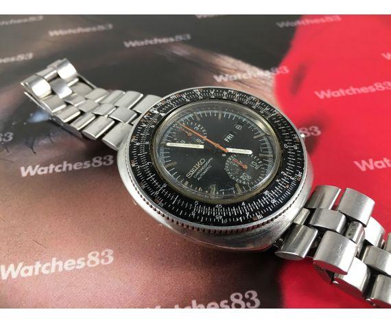 Seiko Slide Rule Reloj vintage cronografo automático Cal 6138 Ref 6138-7000