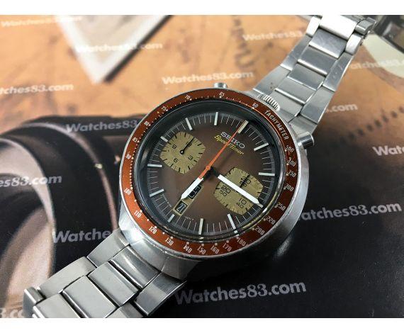 Seiko SpeedTimer Bullhead Reloj cronógrafo antiguo automático Cal 6138 JAPAN J 6138-0040