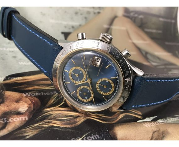 HAMILTON HTC 90650 Reloj vintage automático cronógrafo Chrono-Matic Cal Lemania LWO 283 *** 40 jewels ***