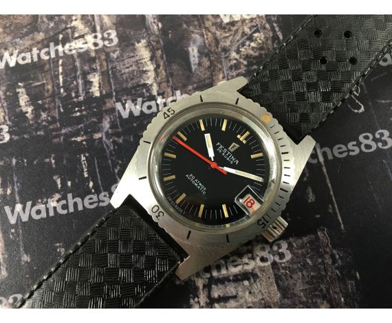 NOS Festina Diver vintage swiss automatic watch 20 ATMOS 25 Rubis *** New Old Stock ***