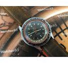 ENICAR Sherpa 600 Guide Compressor Diver GMT Reloj vintage automatico *** Espectacular ***