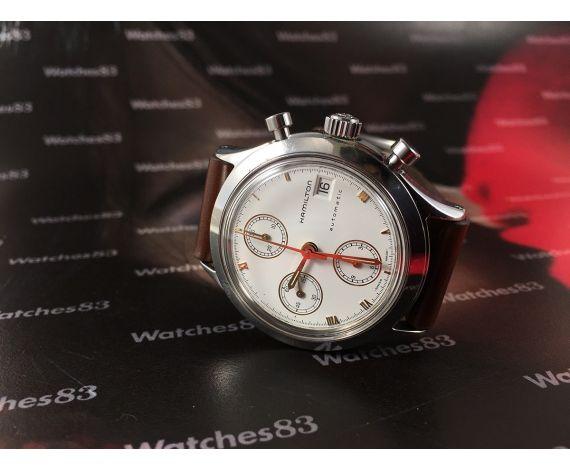 Crono HAMILTON 9941A Reloj vintage automático cronógrafo Cal Valjoux 7750