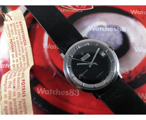 """Potens Elegance """"Polerouter"""" NOS Reloj suizo antiguo automático *** Nuevo de antiguo Stock ***"""