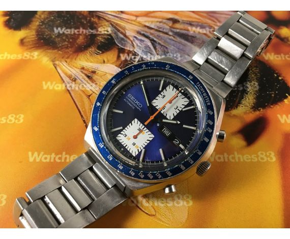 Seiko Kakume Chrono chronograph vintage automatic watch Ref 6138-0030 JAPAN A