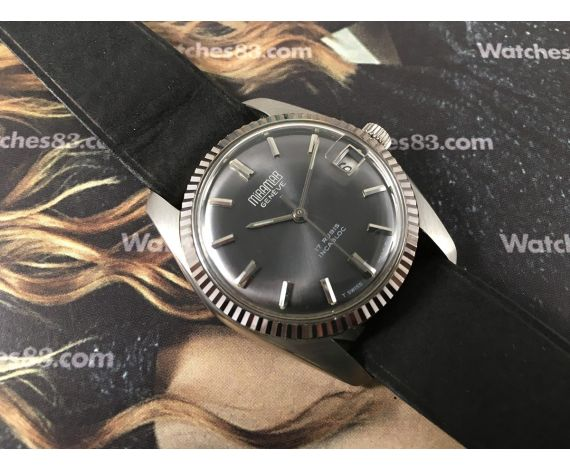 Miramar Genève NOS Reloj suizo de cuerda vintage Tipo Rolex Oyster Datejust *** Nuevo de antiguo Stock ***