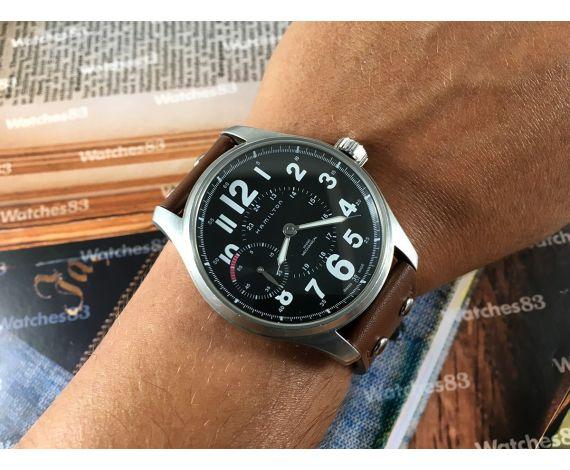 Hamilton Khaki Mechanical Reloj de cuerda Oversize Black 44mm *** Estuche original ***