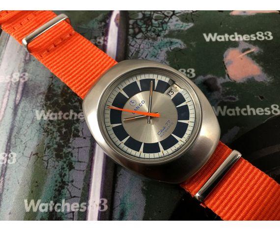LANCO Club 77 Reloj suizo automático vintage *** ESPECTACULAR ***