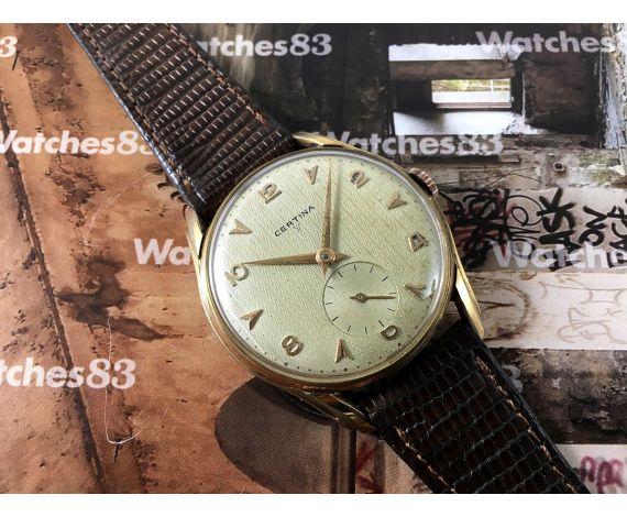 Certina Cal KF330 Reloj antiguo de cuerda plaqué OR 38,2 mm JUMBO *** COLECCIONISTAS ***
