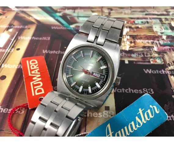 ******* Duward Aquastar automatic NOS Reloj suizo vintage automático. Nuevo de antiguo Stock *** OVERSIZE ***