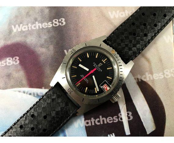 Festina Diver N.O.S. Reloj automático vintage 20 ATMOS 25 Rubis *** Nuevo de antiguo stock ***