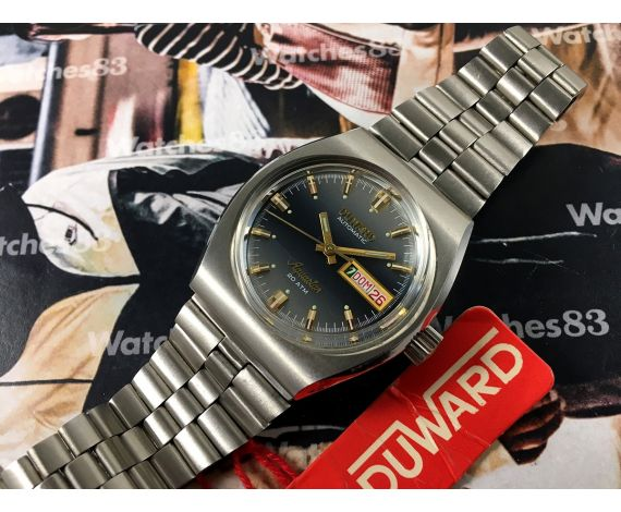 NOS Duward AQUASTAR 200M vintage swiss automatic watch 20 ATM *** New old Stock ***