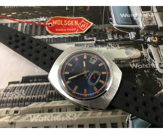 N.O.S. Wolsgen vintage swiss hand wind watch *** New Old Stock ***