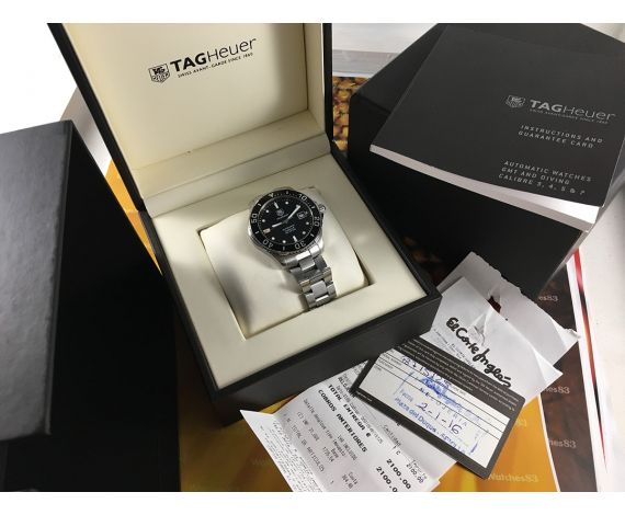 Tag Heuer AQUARACER WAN2110-0 automatic Calibre 5 300M Reloj suizo + Estuche + Documentación