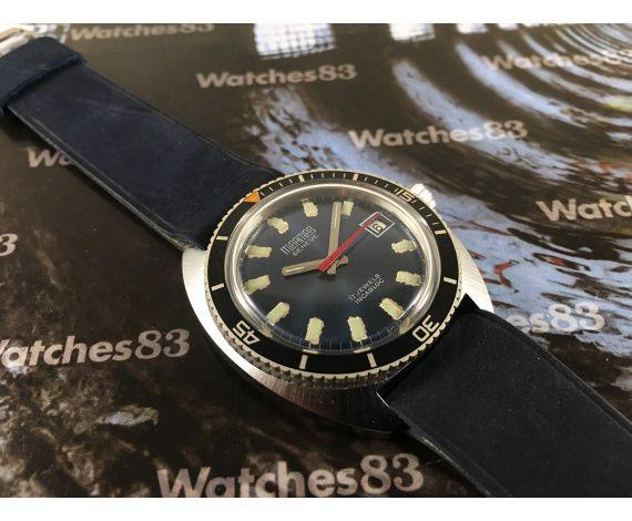Miramar DIVER Reloj suizo antiguo de cuerda 17 rubis NOS *** Nuevo de antiguo Stock ***