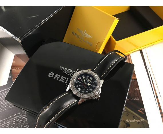 Breitling SuperOcean 5000 FT/1500M 150ATM Reloj suizo automatico A17360 + Estuche + Documentación *** ESPECTACULAR ***