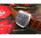 Reloj cuadrado Miramar Genève NOS suizo de cuerda vintage *** Nuevo de antiguo Stock ***