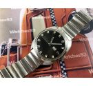 Enicar vintage black dial old swiss automatic watch 24 jewels *** All Original ***