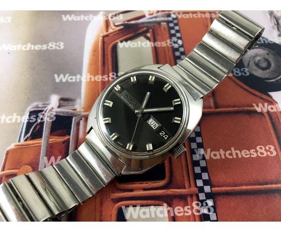 Enicar vintage dial negro Reloj antiguo suizo automático 24 jewels *** Todo Original ***