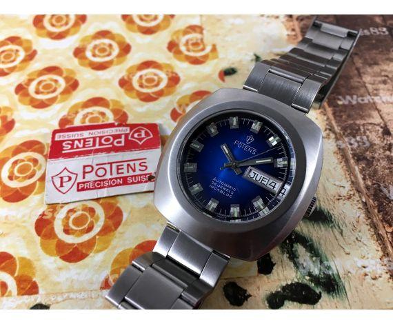 Reloj Potens NOS suizo antiguo automático 25 jewels INCABLOC *** Nuevo de antiguo Stock ***