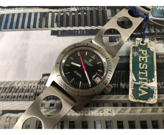 Festina Diver 20 ATMOS NOS Reloj automático vintage 25 Rubis *** Nuevo de antiguo stock ***