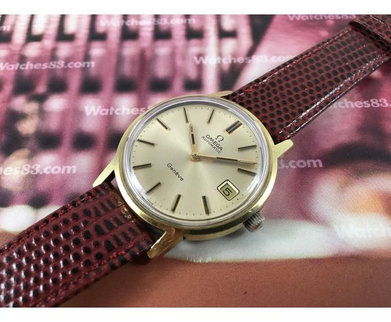 Omega Genève vintage swiss automatic watch Cal. 1012 Ref 1660163 Plaqué OR 20 microns + BOX