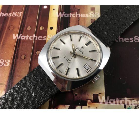 Potens NOS Reloj suizo antiguo de cuerda 17 jewels *** Nuevo de antiguo Stock ***