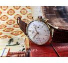 Baume & Mercier Reloj cronografo suizo antiguo de cuerda *** Plaqué OR ***