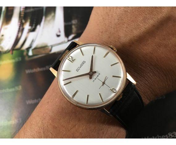 Duward NOS Reloj suizo antiguo de cuerda 17 rubis Plaqué OR *** Nuevo de antiguo Stock ***
