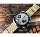 Helbros Invencible Reloj cronógrafo antiguo de cuerda Cal Valjoux 7733 Dial Panda *** ESPECTACULAR ***
