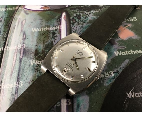 N.O.S. Miramar Genève 25 jewels Vintage automatic wristwatch New old stock *** OVERSIZE ***