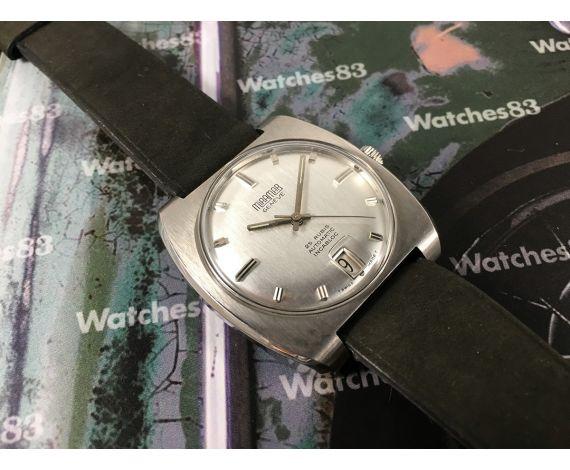 NOS Miramar Genève 25 rubis Incabloc Reloj suizo vintage automatico Nuevo de antiguo Stock *** GRAN DIÁMETRO ***