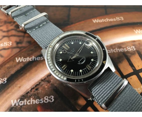 Squale vintage swiss automatic watch Flica Diver 250 Supermatic OVERSIZE