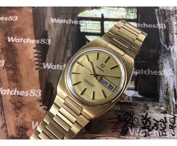 Omega Seamaster Cal 1020 Reloj antiguo suizo automático Plaqué OR 20 microns *** PRECIOSO ***