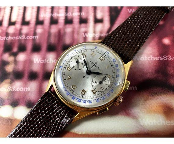 Helvetia Antique Swiss watch Oversize hand wind chronograph *** SPECTACULAR ***