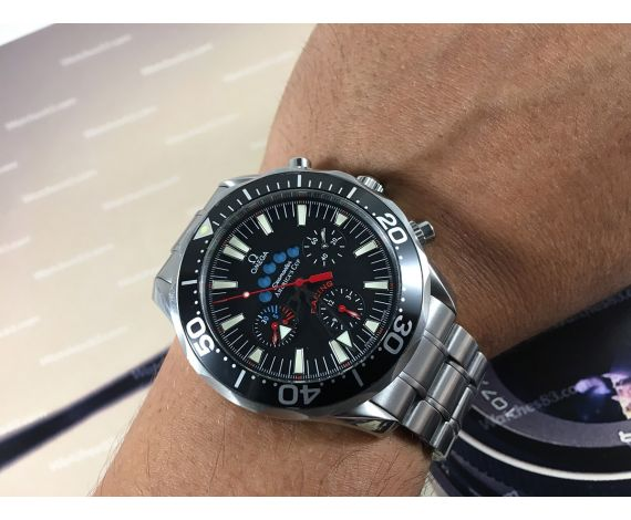 Omega Seamaster AMERICA S CUP Racing 300m 1000ft Chronograph automatic  swiss watch Cal 3602 Ref 2569.50. e8deb91514a