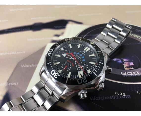 Omega Seamaster AMERICA'S CUP Racing 300m 1000ft Reloj cronografo suizo automático Cal 3602 Ref 2569.50.00 *** ESPECTACULAR ***