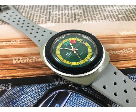 Tissot Sideral Reloj antiguo suizo automático Dial Verde *** RAREZA ***