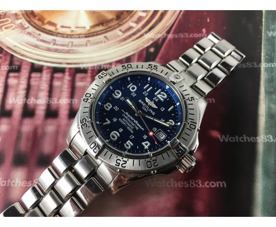 Breitling SuperOcean Chronometre 5000 FT/1500M 150ATM Swiss automatic watch A17360 *** ESPECTACULAR ***
