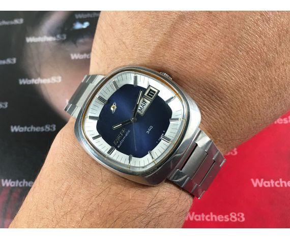 Enicar 340 Reloj suizo automático vintage Calibre AR 167C 27 jewels *** CASI NOS ***