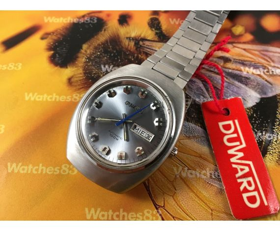 Duward N.O.S. Vintage swiss automatic watch 100m OVERSIZE 25 jewels Cal ETA 2789 *** NEW OLD STOCK ***
