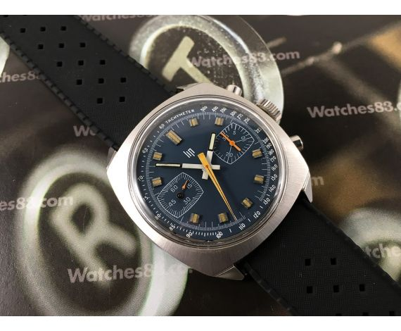LIP Reloj Cronografo antiguo de cuerda Valjoux 7733 Oversize *** Casi Nuevo de antiguo Stock ***