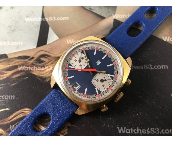 LIP Rallye Vintage chronograph hand winding watch Racing Valjoux 7734 *** SPECTACULAR ***