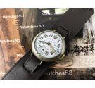 Omega 1916 Reloj suizo antiguo militar de trinchera dial de porcelana COLECCIONISTAS Oversize